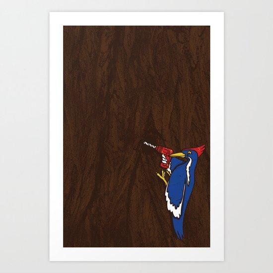 Modern Day Woodpecker Art Print