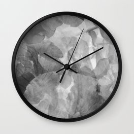 Black and White Foliage Wall Clock