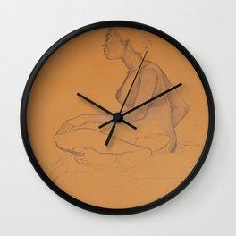 Nudist Wall Clock