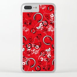 Gamers-Red Clear iPhone Case