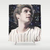 niall Shower Curtains featuring Niall OTRA by Clara J Aira