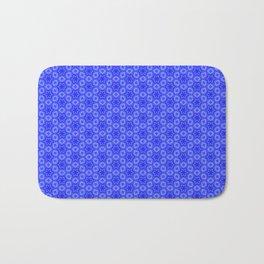 Pretty Feminine Flower pattern in blue, purple, lavender, teal Bath Mat