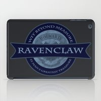 ravenclaw iPad Cases featuring Ravenclaw by justgeorgia
