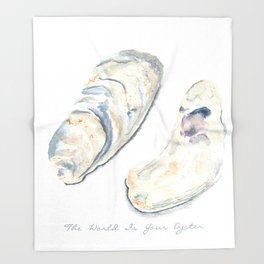 The World Is Your Oyster Throw Blanket