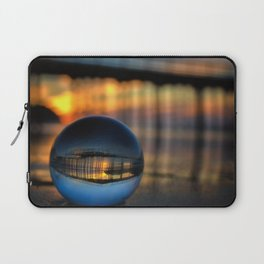 Avila Pier Captured in a crystal ball at sunrise Laptop Sleeve