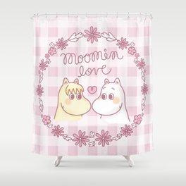 Moomin Love Pink Shower Curtain