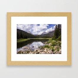 Boulder Lake Framed Art Print