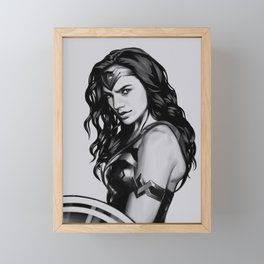 Wonder women Framed Mini Art Print