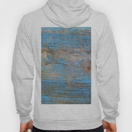 Blue Wood Grain Hoody