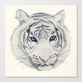 Roar - Tiger in Mono Canvas Print