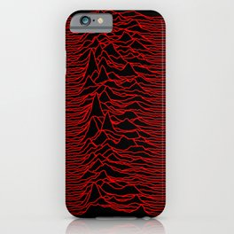 Unknown Pleasures [Red Lines] iPhone Case
