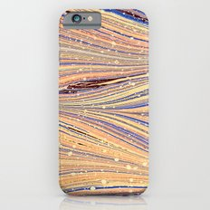 Marbled White Light Flow Slim Case iPhone 6s