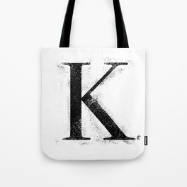 K. - Distressed Initial Tote Bag