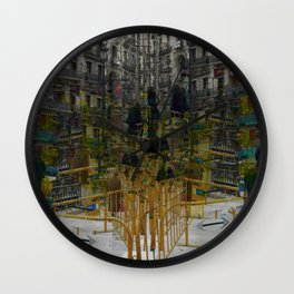 those entangled intentions were discovered shrouds Wall Clock