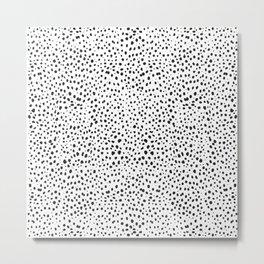 Dalmatian Spots - Black and White Polka Dots Metal Print