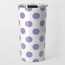Lavender Medium Polka Dots Travel Mug