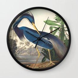 Louisiana Heron, Robert Havell after John James Audubon Wall Clock
