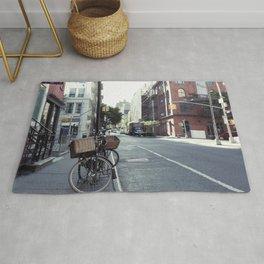Bikes in Soho Rug
