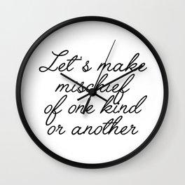 let's make mischief Wall Clock