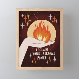 Reclaim your personal power Framed Mini Art Print