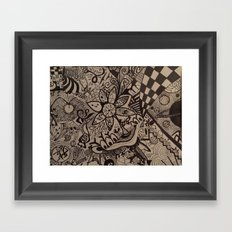 Black and Blanco Framed Art Print