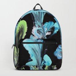 Blue Iris Flowers Backpack