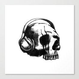 Skull DJ Canvas Print