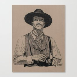 I'm yer Huckleberry Canvas Print
