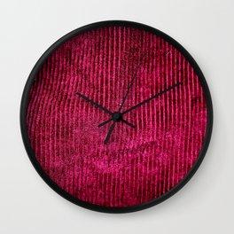 Burgundy Corduroy  Wall Clock