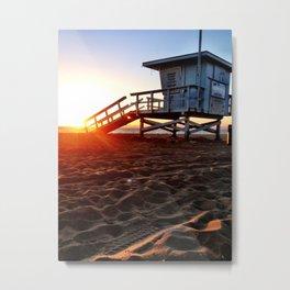 "Redondo Beach ""Life Guard Tower 3"" Metal Print"