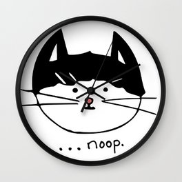 Noop Kitty Benji Cat Wall Clock