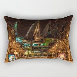 Justice has Landed Rectangular Pillow