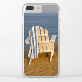 Beach Break Clear iPhone Case