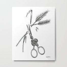 Antique Scissors Metal Print