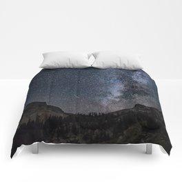 Perseid Over Sacagawea Peak Comforters