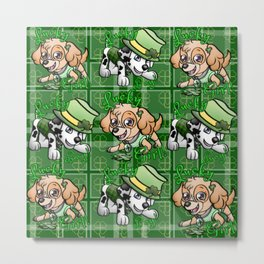 Lucky pups Metal Print