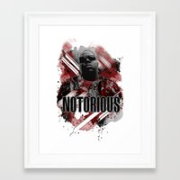 notorious big Framed Art Prints featuring Notorious by Skye
