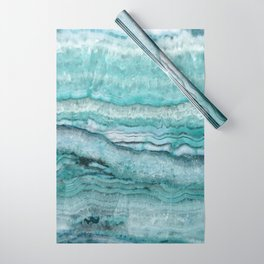 Mystic Stone Aqua Teal Wrapping Paper