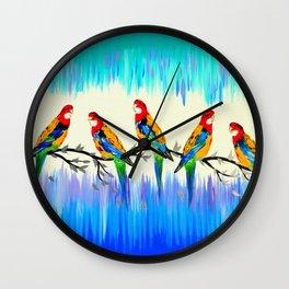 Australian Birds Wall Clock