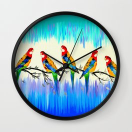 Australian Birds Wall Clock