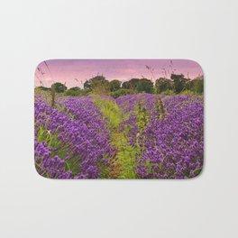A Norfolk Lavender Field, UK  (Lavandula) Bath Mat