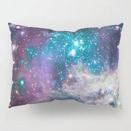 Lavender Teal Star Nursery Pillow Sham