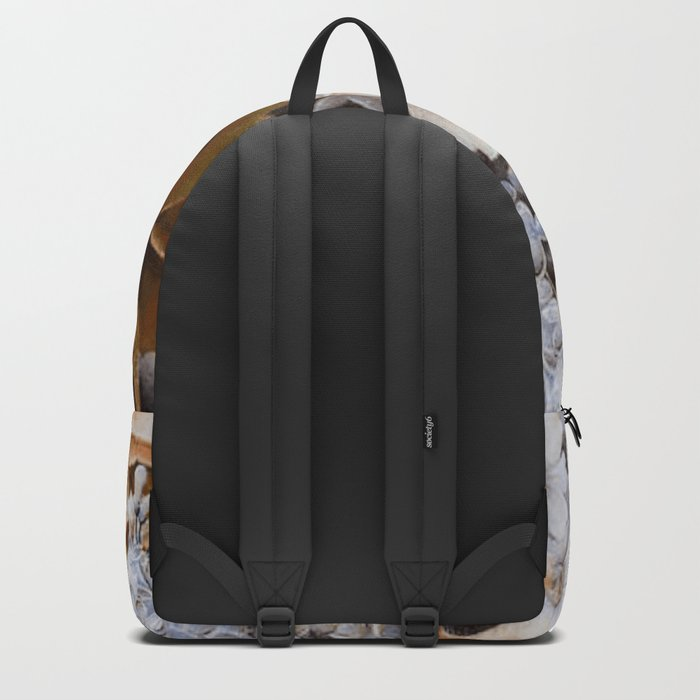 wintery floral Backpack
