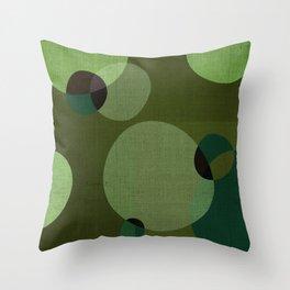 """Retro Green Super Dots"" Throw Pillow"