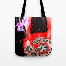 looking at a little pink city angel Tote Bag