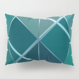 Mosaic tiled glass with black rays Pillow Sham