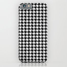 Houndstooth Black and White iPhone Case