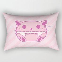 Pink Kawaii Cat Macaroon Rectangular Pillow