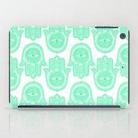 hamsa iPad Cases featuring Hamsa  by Luna Portnoi
