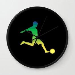 Football Kid Wall Clock